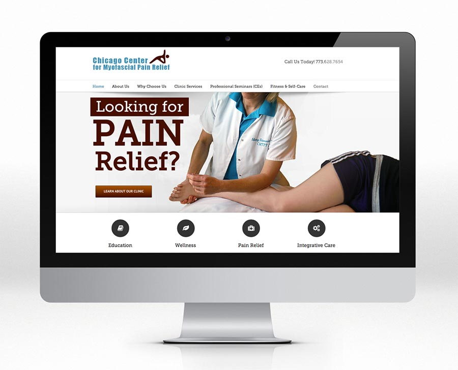 Chicago Center for Myofascial Pain Relief web design wisconsin