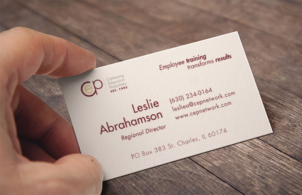 Business card design B2B