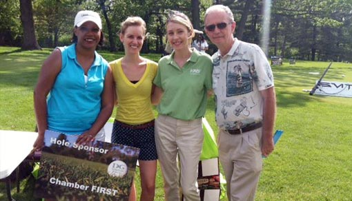 Lorraine representing Chamber First at golf outing