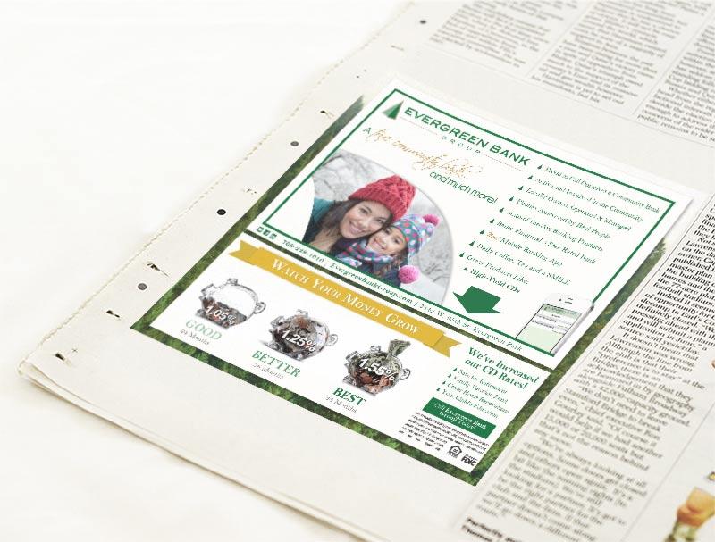 Print newspaper ad design