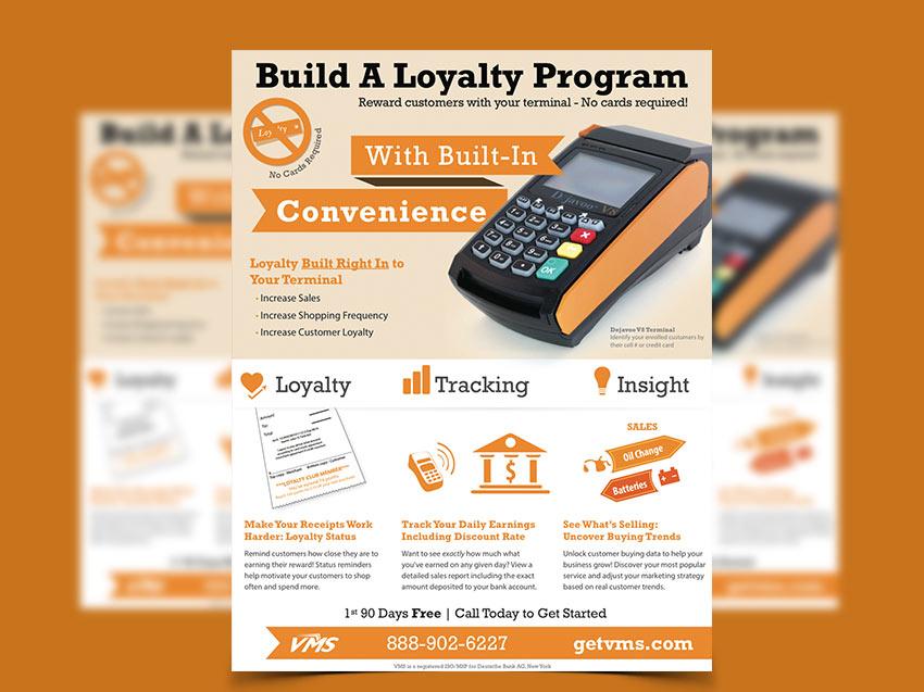 loyalty program company flyer design
