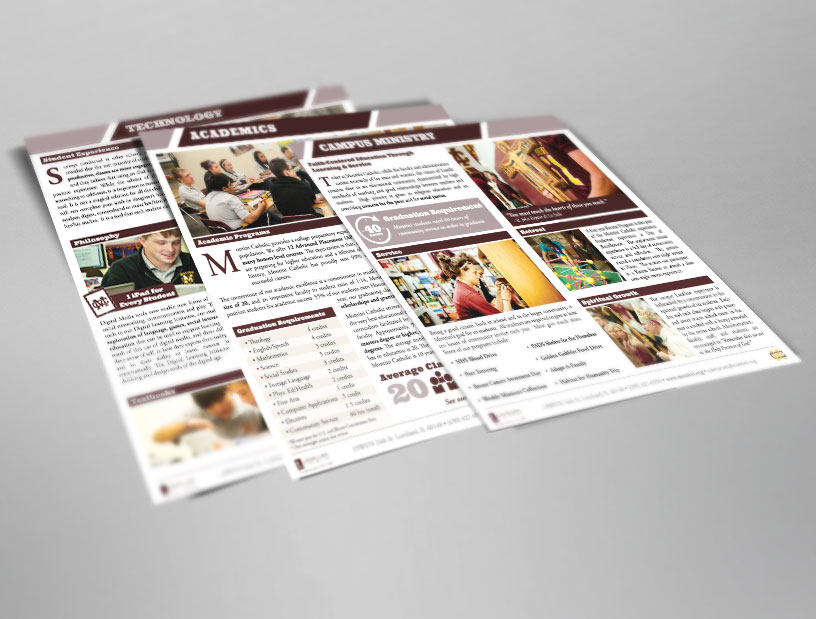 Print Design Infopack (Tier Sheets)