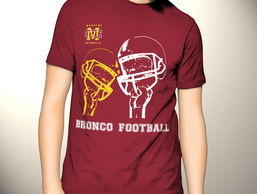 Tshirt design for parochial high school football team