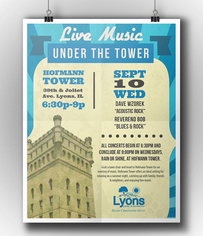 Village of Lyons, graphic design poster