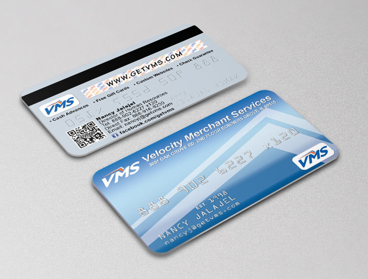 VMS business card design, credit card style
