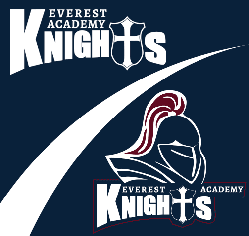 Everest Academy Knights logo design