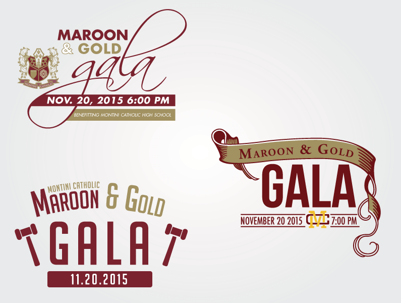 montini-catholic-maroon-gold-gala-logo-design