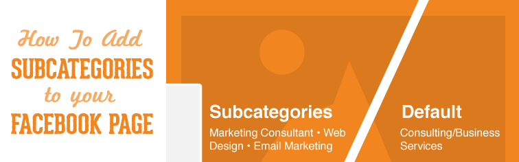 how to add subcategories to facebook page