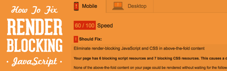 how to fix render-blocking javascript