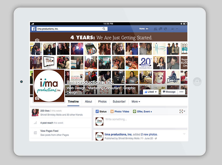 social media design services, Facebook cover image