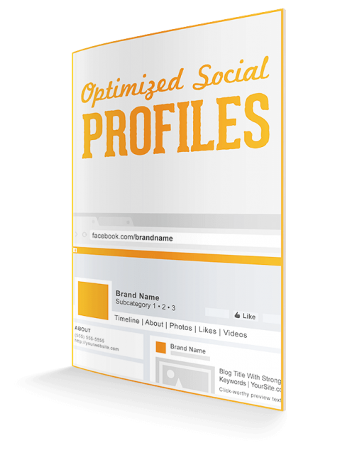 optimized social media profiles