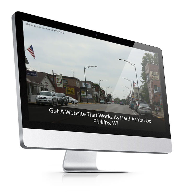 web site design in phillips wi imac mockup image